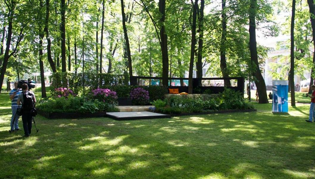 Общий вид выставочного сада.