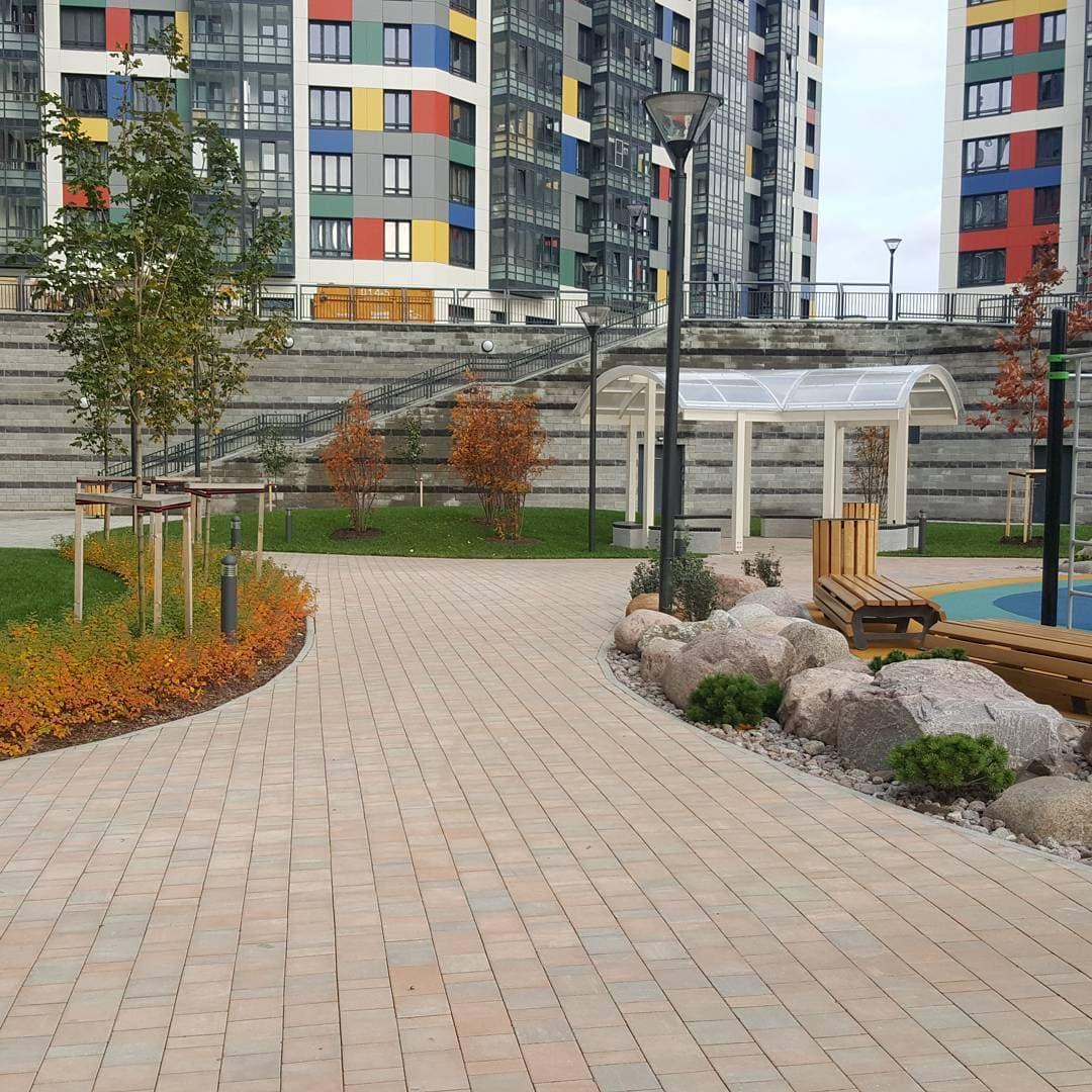 Озеленение территории жилых комплексов