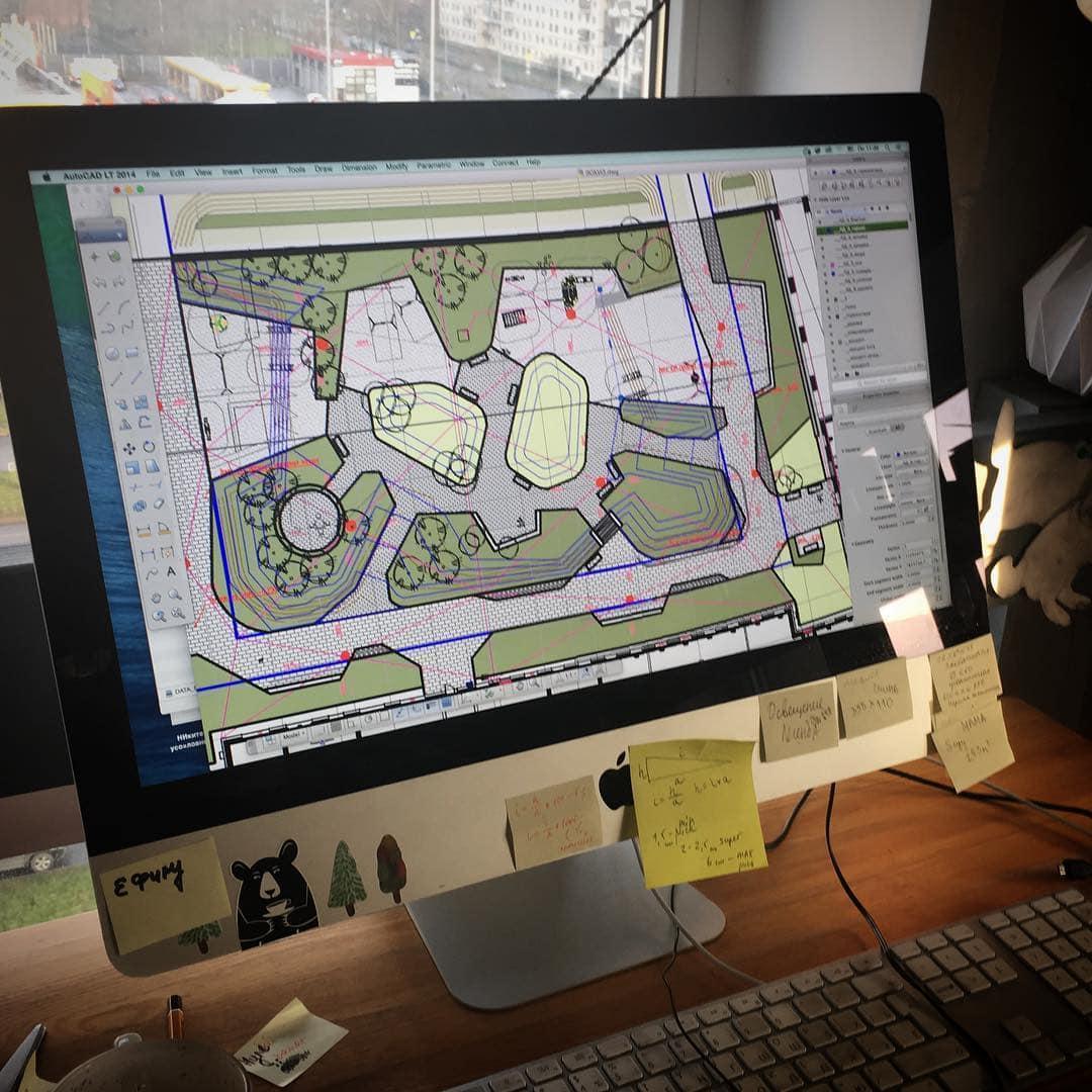ландшафтный дизайн городских дворов